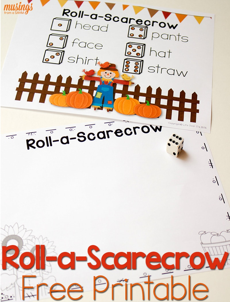photograph relating to Scarecrow Printable titled Absolutely free Tumble Printable: Roll-a-Scarecrow - Dwelling Nicely Mother