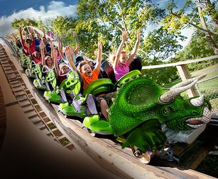 Story Land Roar O Saurus roller coaster