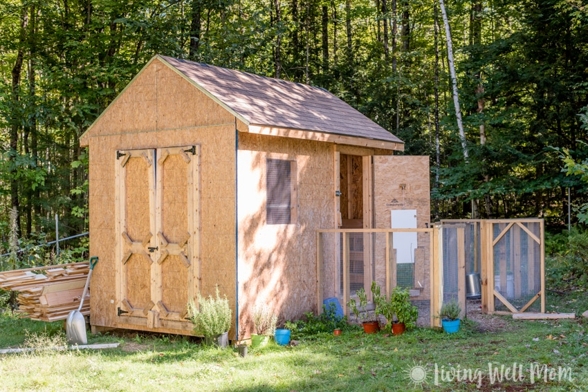 Come tour our chicken coop. I'll show you around our homemade coop and share a few tricks we've learned about keeping backyard chickens.