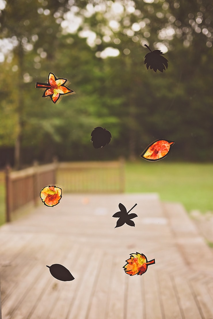 Stained Glass Fall Leaves | Whimsey & Hope