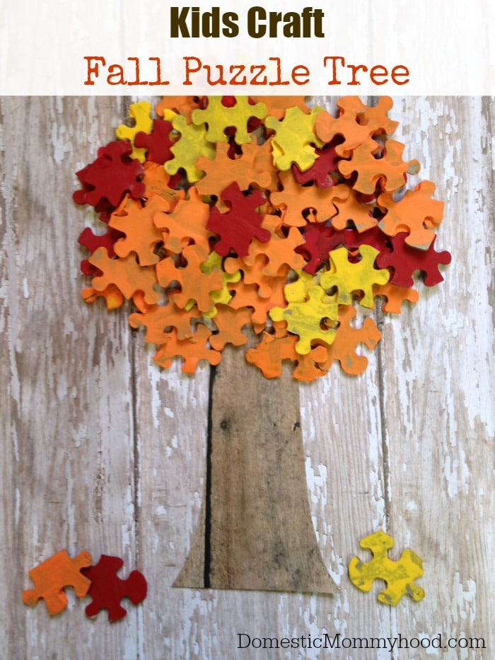 Fall Puzzle Tree | Domestic Mommyhood