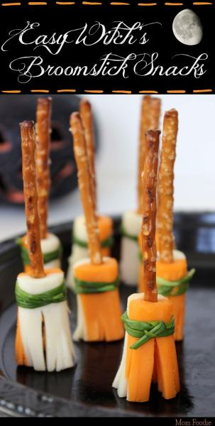 witch's broomstick healthy halloween snack