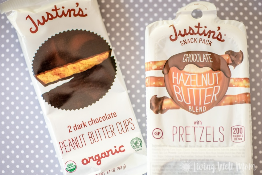 Justin's Peanut Butter Cups - Trade in some of that sugar for a few healthier options this Halloween. Here's a list of 25+ Healthy Halloween Treats for kids that are both kid and mom-approved.