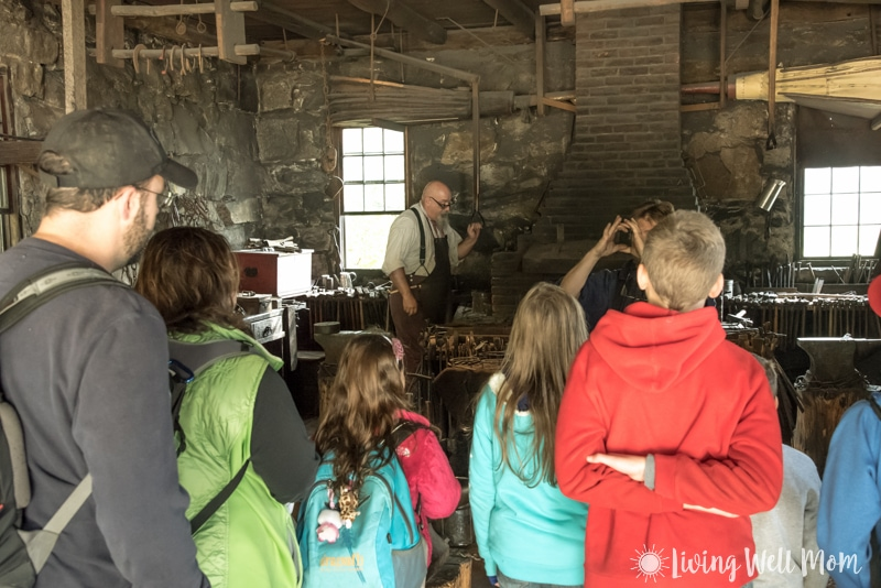 Old Sturbridge Village blacksmith shop