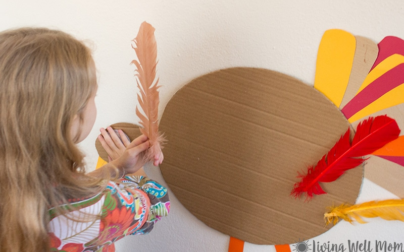 Pin the Tail on the Turkey! Such a fun game for Thanksgiving!