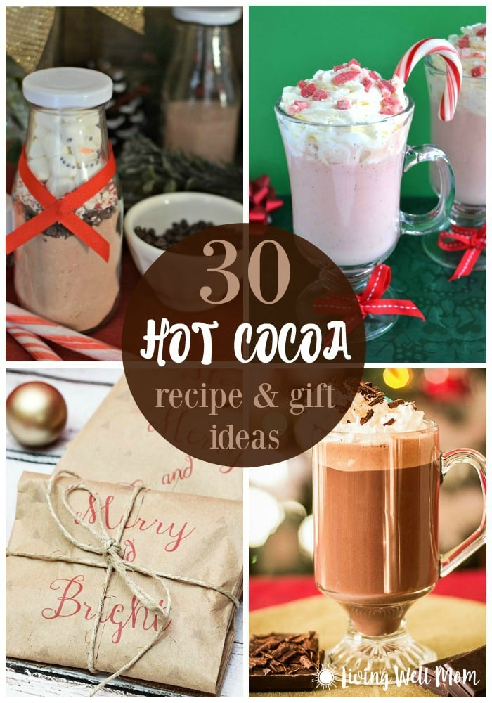 From gingerbread and healthy peppermint hot cocoa to a DIY snowman hot chocolate sets, here's over 30 delicious hot cocoa recipes and gift ideas to choose from.