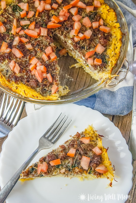 Tired of the same old breakfast every morning? Try this delicious Spaghetti Squash Sausage Quiche recipe; it's grain-free, dairy-free, and Paleo-friendly and easier to make than many picky quiche crusts. Plus, your family won't even realize they're eating vegetables for breakfast!
