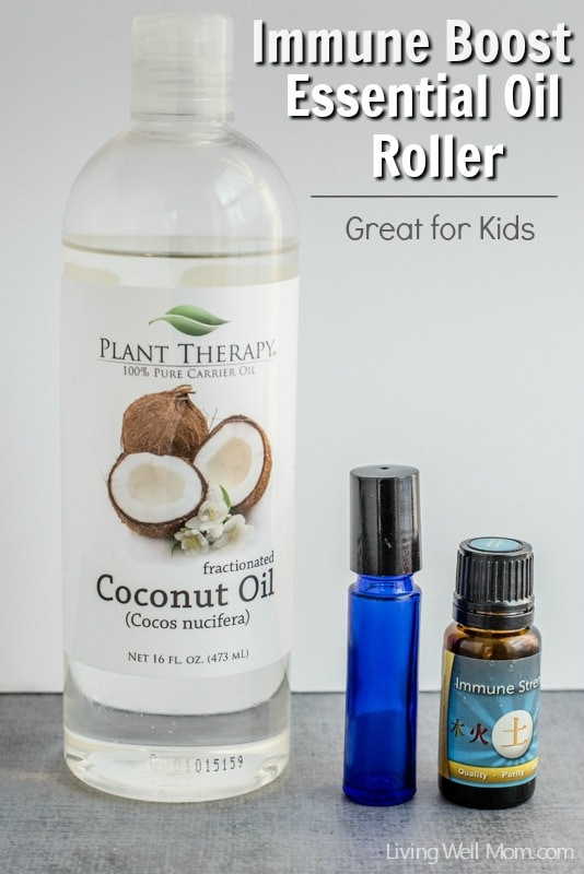 Tired of your kids getting sick? Here's a simple Immune Boost Essential Oil Roller that really works!