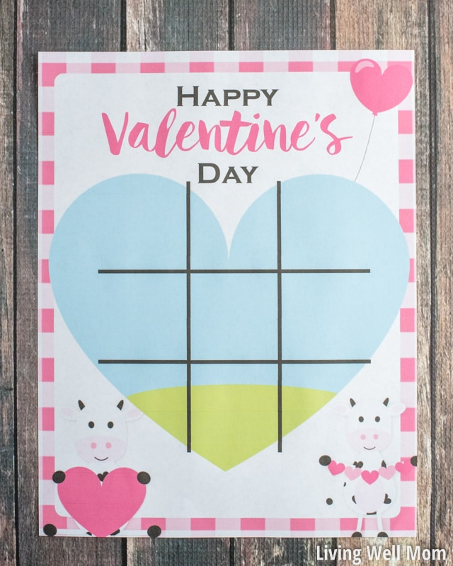 This free printable Valentine's Day Tic-Tac-Toe for kids is just as fun as it is adorable!