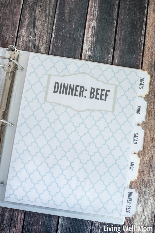 graphic regarding Free Printable Recipe Binder referred to as Do-it-yourself Recipe Binder (with Totally free Printable Downloads)