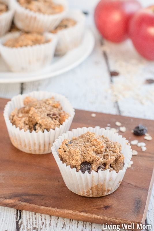 Apple OatmealNeed a satisfying healthy snack for the kids? Soft and delicious, bursting with apple flavor and sweetened only with honey and banana, this Gluten-Free Apple Oatmeal Muffins recipe is kid-approved and easy-to-make!
