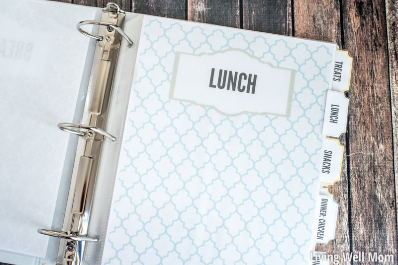 picture about Free Printable Divider Tabs for Binders named Do it yourself Recipe Binder (with Cost-free Printable Downloads)