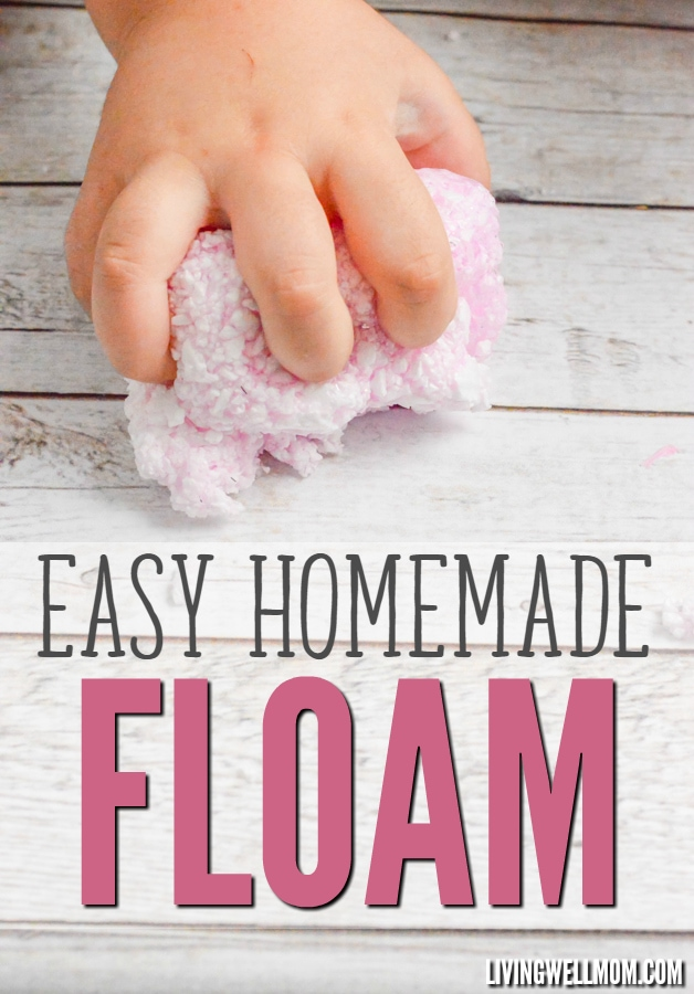 Looking for a fun rainy day activity for the kids? This Homemade Floam is super easy to make (check out the step-by-step photo directions here) and kids will love the result! Your wallet will too because this homemade version is much cheaper than the store stuff!