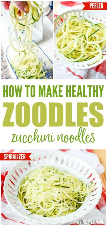 how to make healthy zoodles zucchini noodles recipe