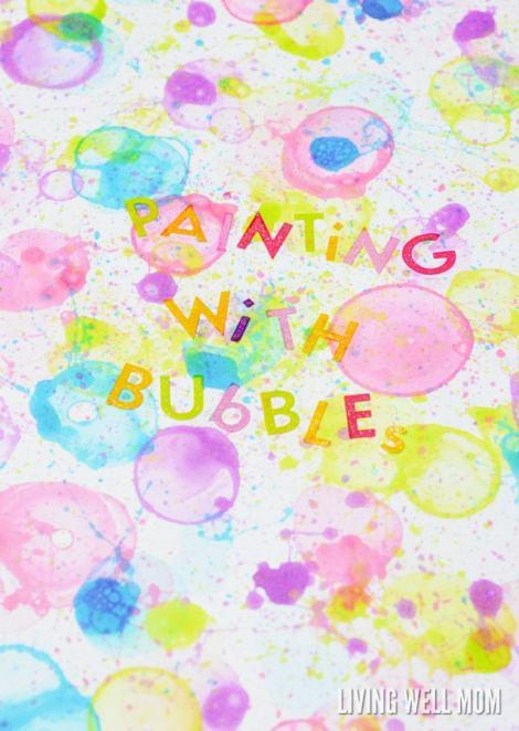 bubble art painting activity for kids