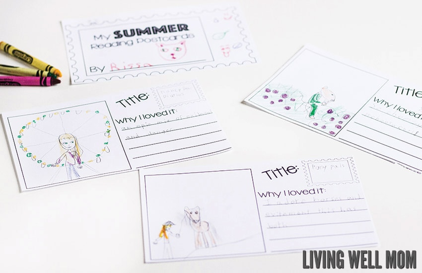 Free Printable Summer Reading Log for Kids