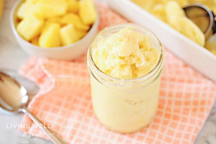 homemade disney pineapple dole whip