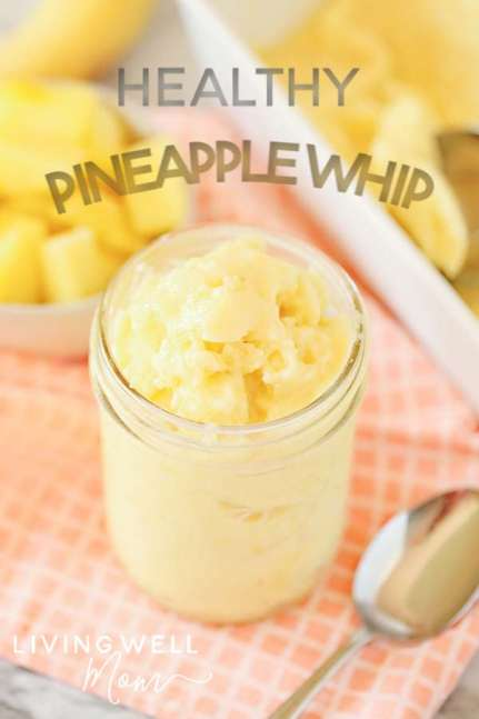 healthy pineapple whip in a glass