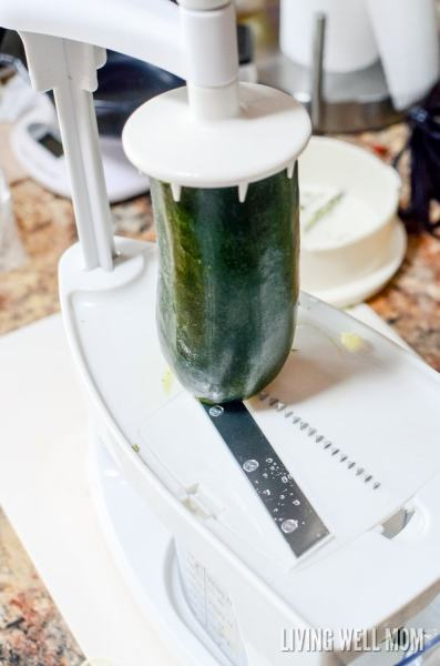 """On a grain-free diet or simply trying to eat better? You won't believe how easy these Zoodles (Zucchini Noodles) are to make! Find out how to make them with a basic peeler OR spiralizer and you'll see just how delicious these healthy """"noodles"""" are!"""