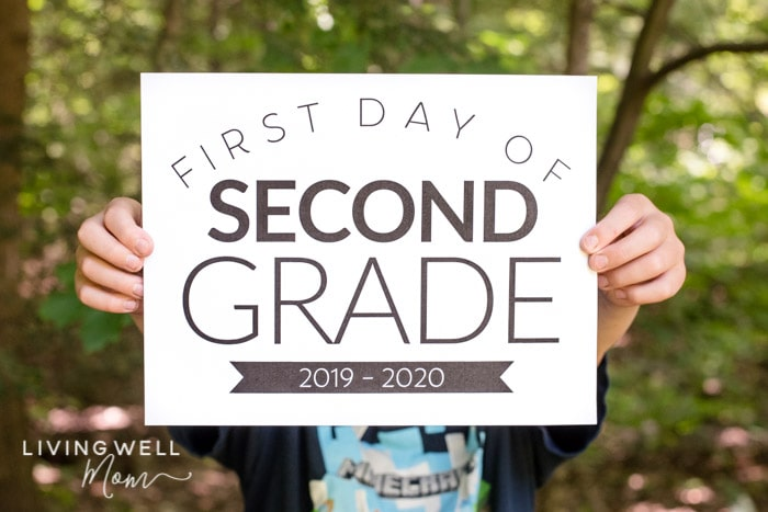 image relating to First Day of School Sign Printable identified as No cost Printable Initially Working day of College Indicators for All Grades