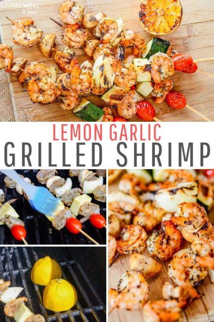 lemon garlic grilled shrimp