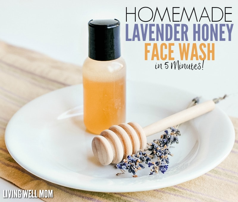 Homemade Lavender Honey Face Wash in 5 Minutes! This face wash takes just 5 minutes to make and <a href=