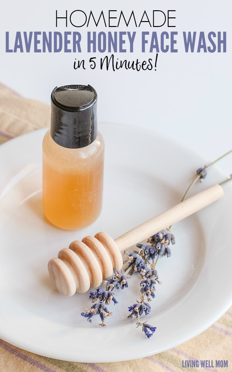 Homemade Lavender Honey Face Wash in 5 Minutes! This face wash takes just 5 minutes to make and uses essential oils and <a href=