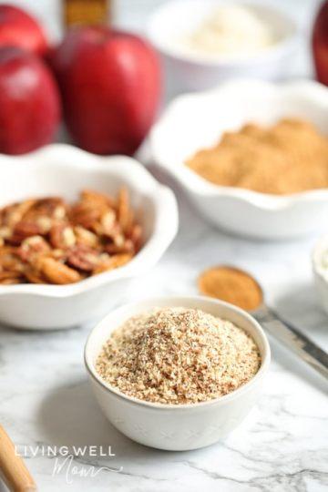ingredients for paleo apple crisp