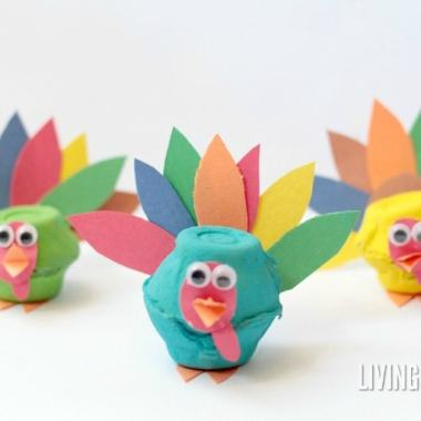 Thanksgiving is all about thankfulness, the Pilgrims, and of course, turkeys! These adorable egg carton turkeys will be the delight of any kid creator.