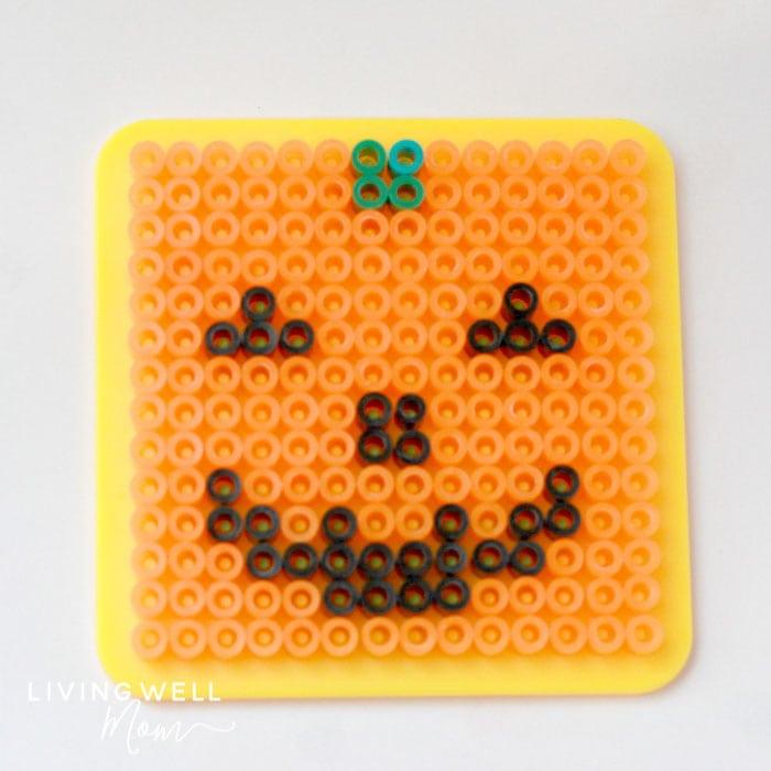 pumpkin halloween perler bead pattern