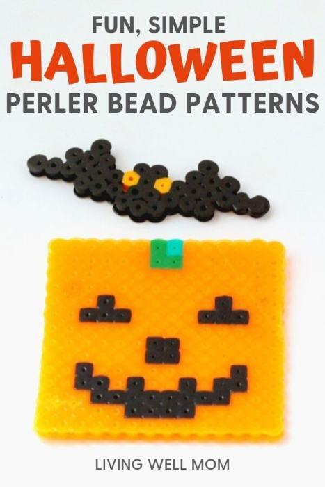 simple halloween perler bead patterns