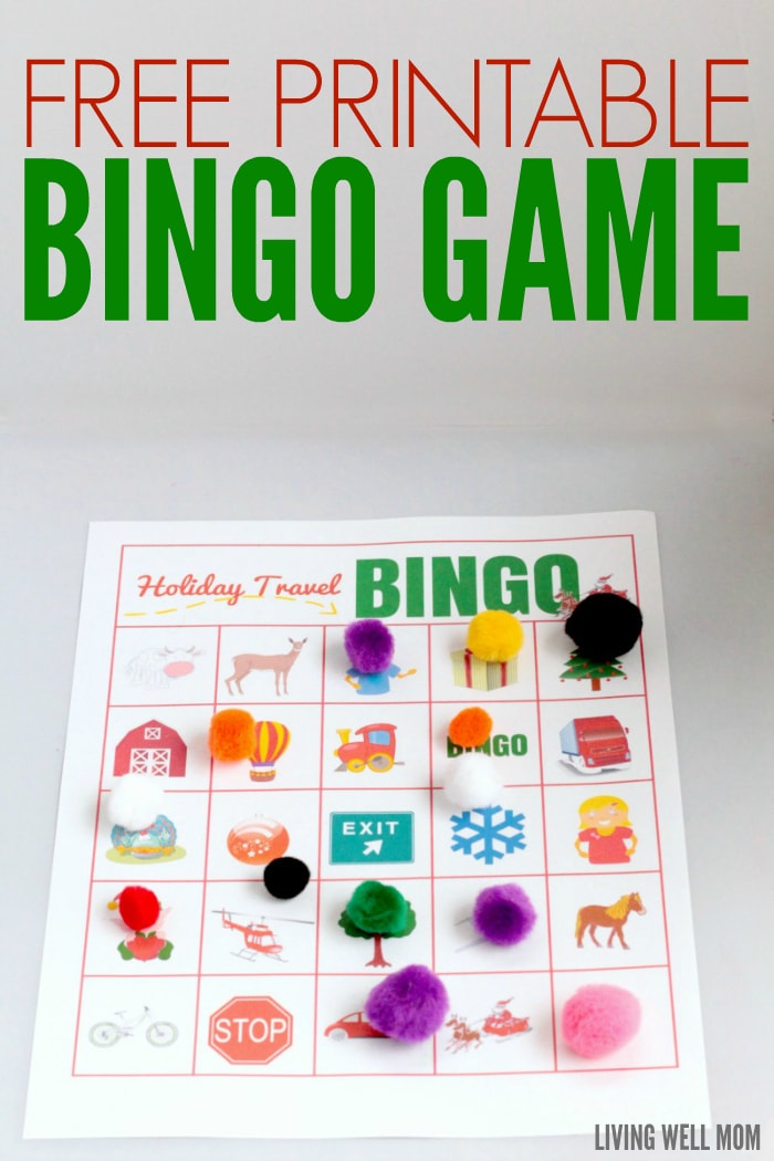 graphic about Holiday Bingo Printable known as Printable Bingo Activity: Family vacation Push