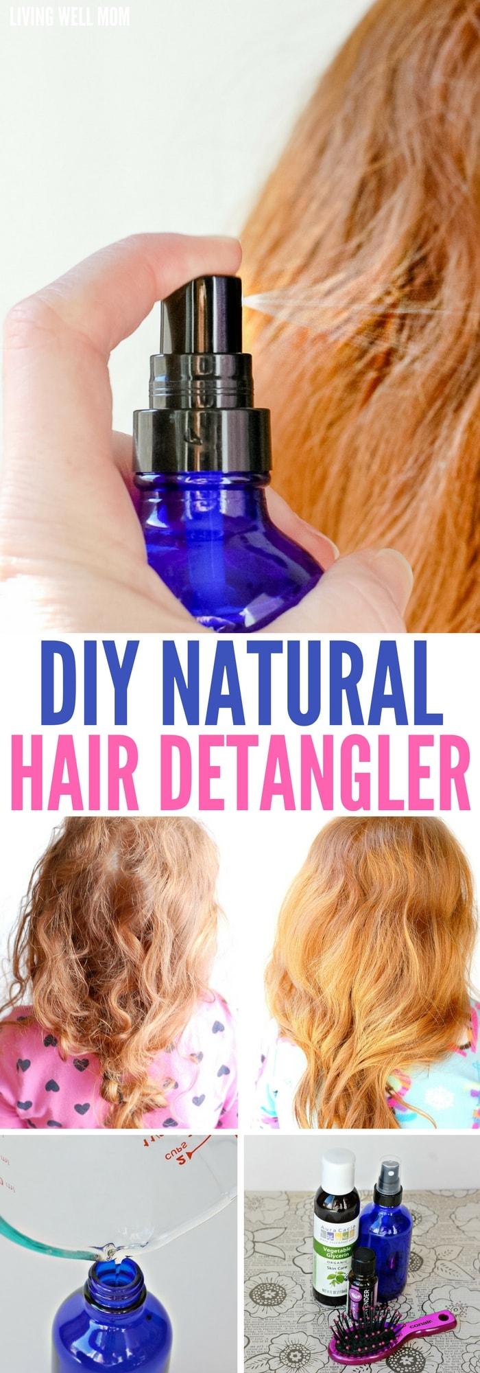 DIY Natural Hair Detangler with Essential Oils