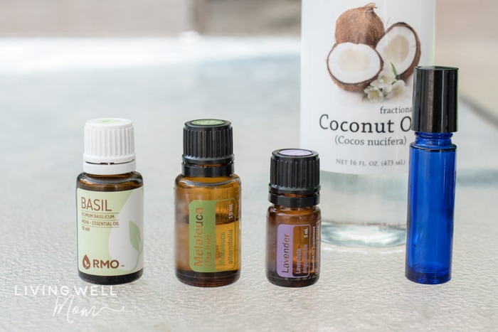 basil, melaleuca, lavender essential oils for itchy bug bites