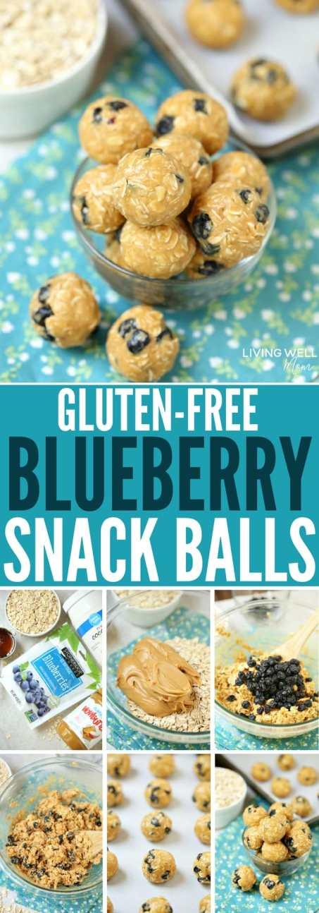 gluten-free blueberry snack balls