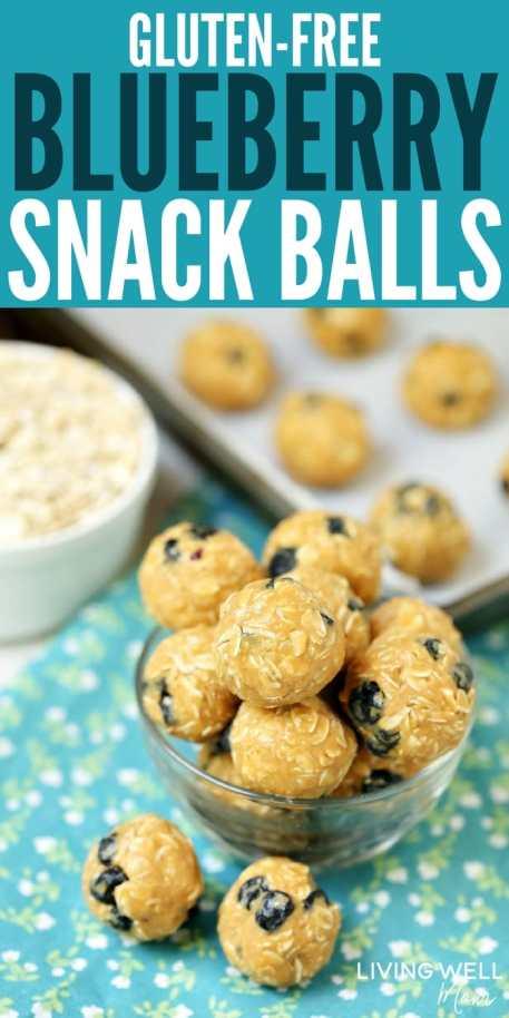 gluten-free blueberry energy bites snack