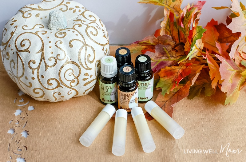 pumpkin spice lip balm with essential oils