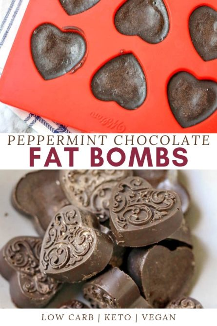 This delicious low carb, high fat dessert is perfect if you're on the ketogenic diet or simply trying to eat healthy. With 4-ingredients, Chocolate Peppermint Fat bombs is a quick snack idea too. #fatbombs #ketorecipes #lowcarb