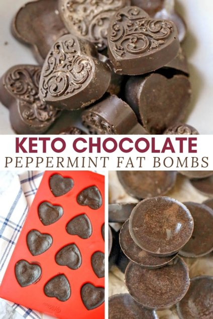 chocolate peppermint fat bombs ketogenic snack