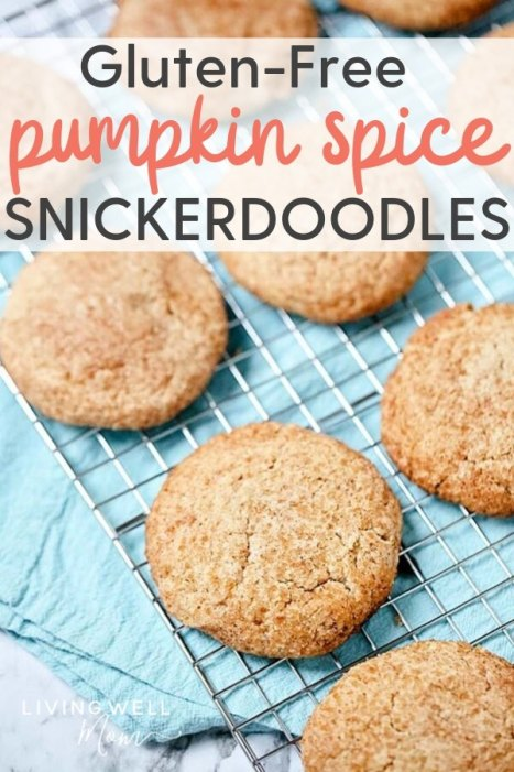 gluten-free pumpkin spice snickerdoodles cookies