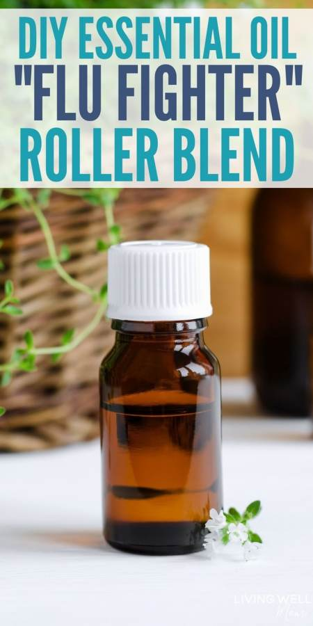 DIY Essential Oil Roller Blend: Flu Fighter - This tried-and-true essential oil roller blend is packed with essential oils that have antiviral properties and more helpful benefits that can help boost your immune system and if you do catch the flu, may help naturally reduce the duration and severity. #essentialoils #naturalremedies #naturalremedy #wellness #healthyliving #healthandwellness #immuneboost