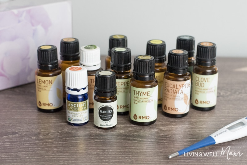 12 Essential Oils for the flu - how to support your immune system with the 12 essential oils, how to use them, safety tips, plus a diffuser blend #diffuserblend #diffuser #essentialoils #wellness #healthyliving