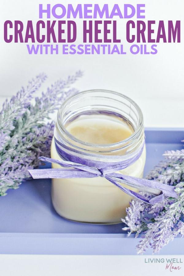 homemade cracked heel cream recipe with essential oils