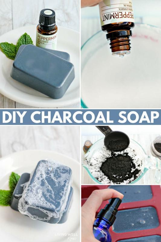 DIY Charcoal Soap Bars