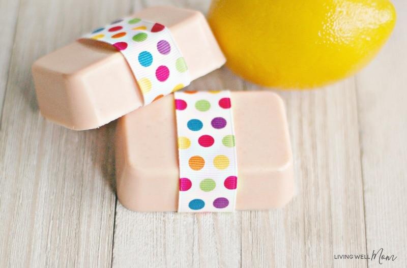 homemade citrus goat milk soap with essential oils