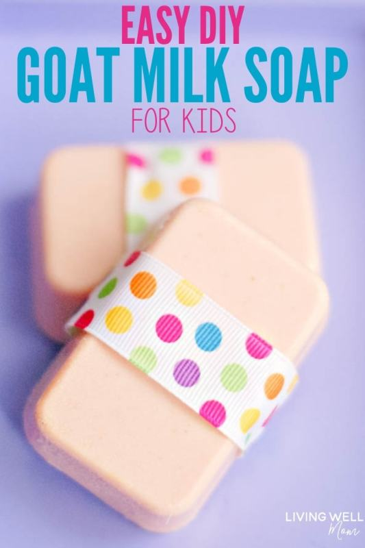 homemade goat milk soap for beginners with essential oils, easy diy homemade recipe