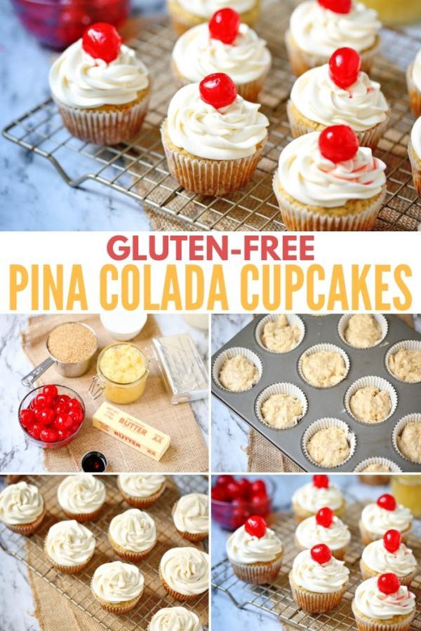 gluten-free pina colada cupcakes - dessert recipe