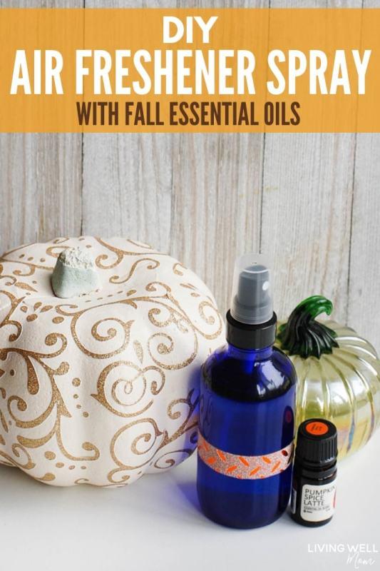 DIY Air Freshener Spray with Fall Essential Oils