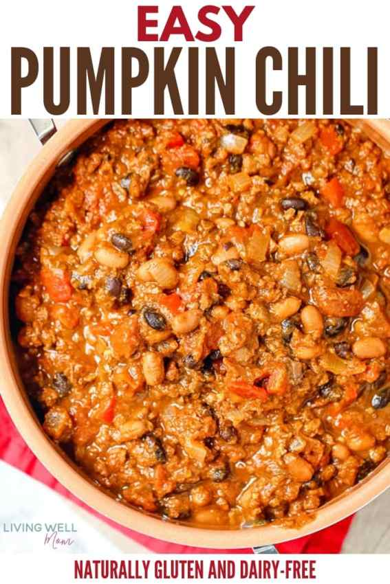 hearty easy one-pot pumpkin chili recipe easy dinner