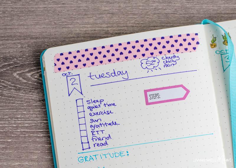 bullet journal layout idea